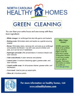 UNC CEHS Green Cleaning fact sheet