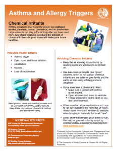UNC CEHS Chemical Irritants fact sheet