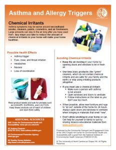 UNC CEHS Chemical Irritants fact sheet